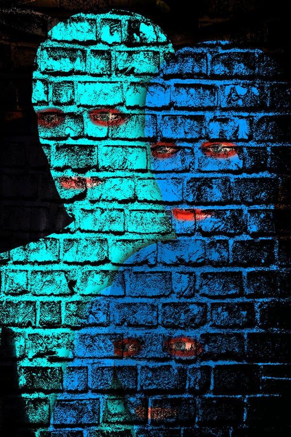 Μπλε άτομα απεικόνιση αποθεμάτων