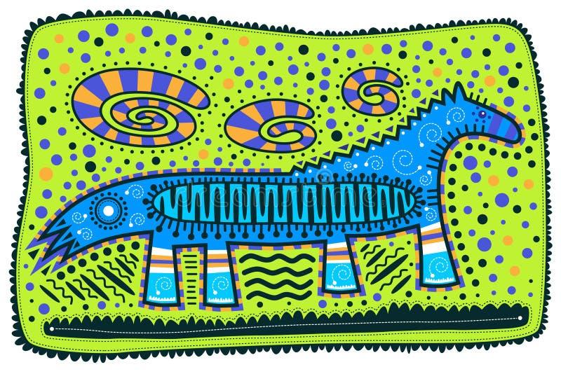 μπλε άλογο διανυσματική απεικόνιση