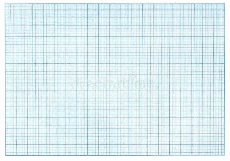 Μπλε έγγραφο γραφικών παραστάσεων χιλιοστόμετρου διανυσματική απεικόνιση