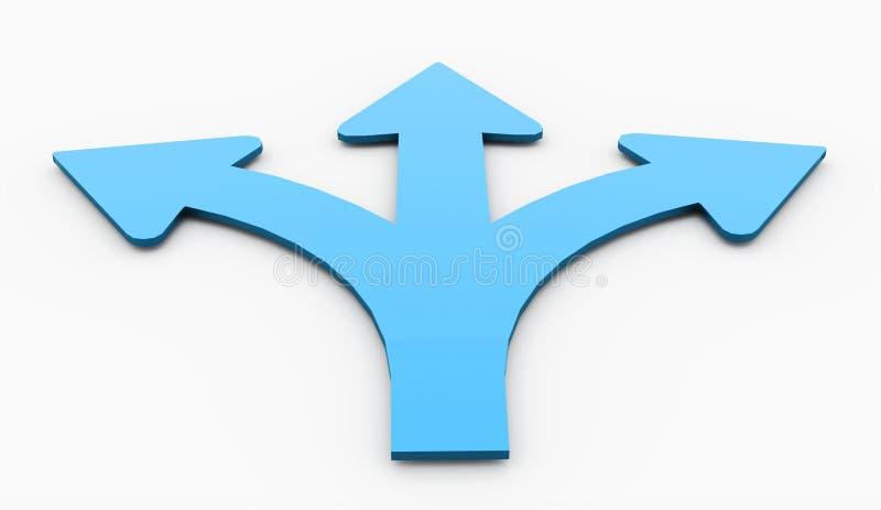 Μπλε έννοια βελών που δίνεται απομονωμένη ελεύθερη απεικόνιση δικαιώματος