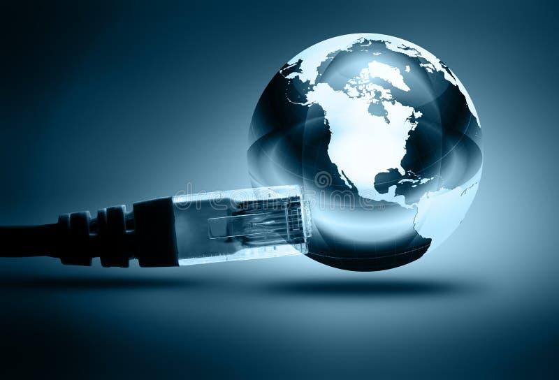 μπλε έννοια Διαδίκτυο χρώματος ανασκόπησης ελεύθερη απεικόνιση δικαιώματος
