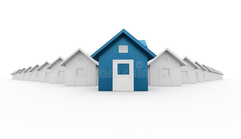 Μπλε έννοια εικονιδίων σπιτιών που δίνεται ελεύθερη απεικόνιση δικαιώματος
