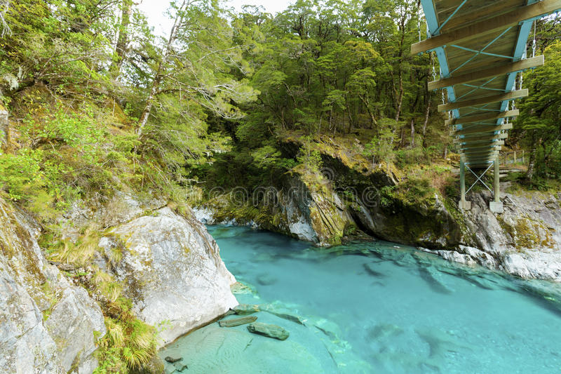 Μπλε λίμνες στο εθνικό πάρκο επιδίωξης υποστηριγμάτων στοκ εικόνα με δικαίωμα ελεύθερης χρήσης