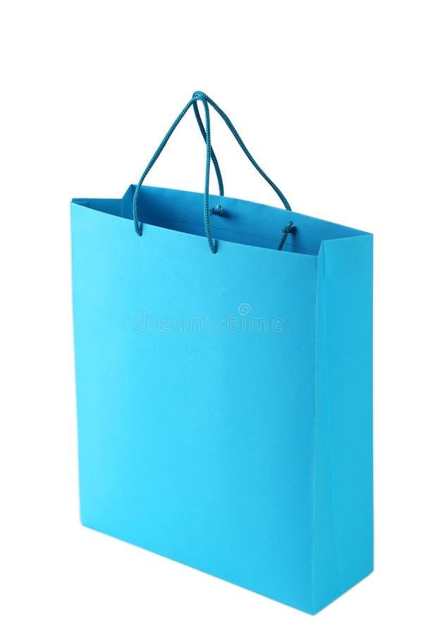 μπλε αγορές τσαντών στοκ εικόνες