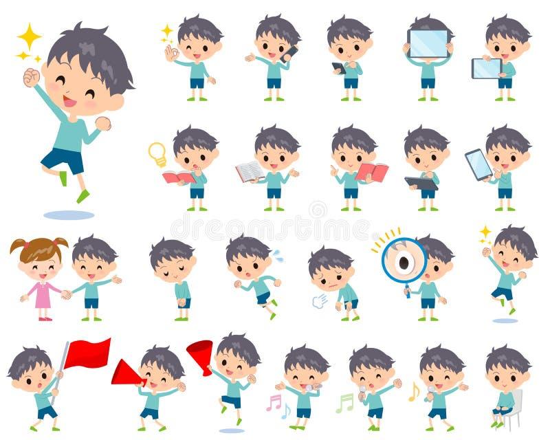 Μπλε αγόρι 2 ιματισμού διανυσματική απεικόνιση