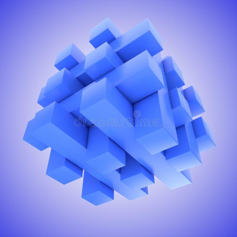 Μπλε αιωμένος γρίφος τορνευτικών πριονιών απεικόνιση αποθεμάτων