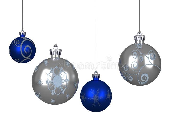 μπλε ασήμι Χριστουγέννων μ ελεύθερη απεικόνιση δικαιώματος