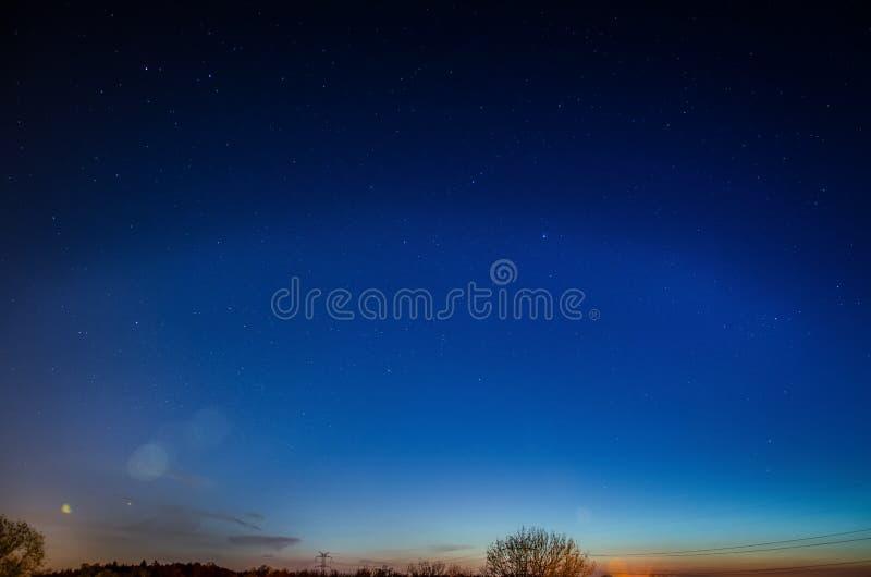 μπλε αστέρια νυχτερινού ουρανού στοκ φωτογραφία με δικαίωμα ελεύθερης χρήσης