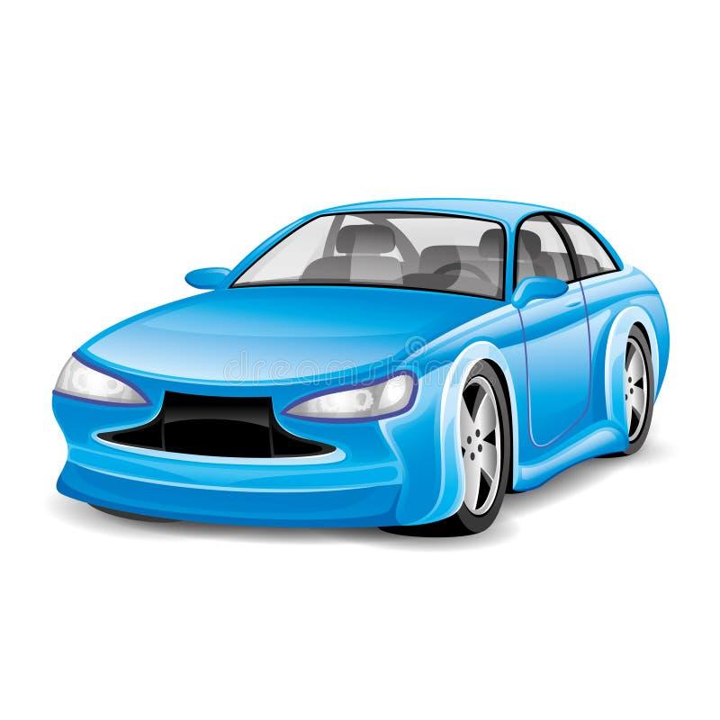 μπλε αυτοκίνητο απεικόνιση αποθεμάτων