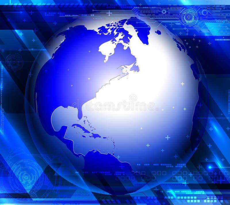 Μπλε αφαίρεση τεχνολογίας διανυσματική απεικόνιση
