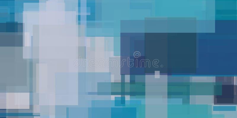 Μπλε αφηρημένη γεωμετρική ζωγραφική διανυσματική απεικόνιση