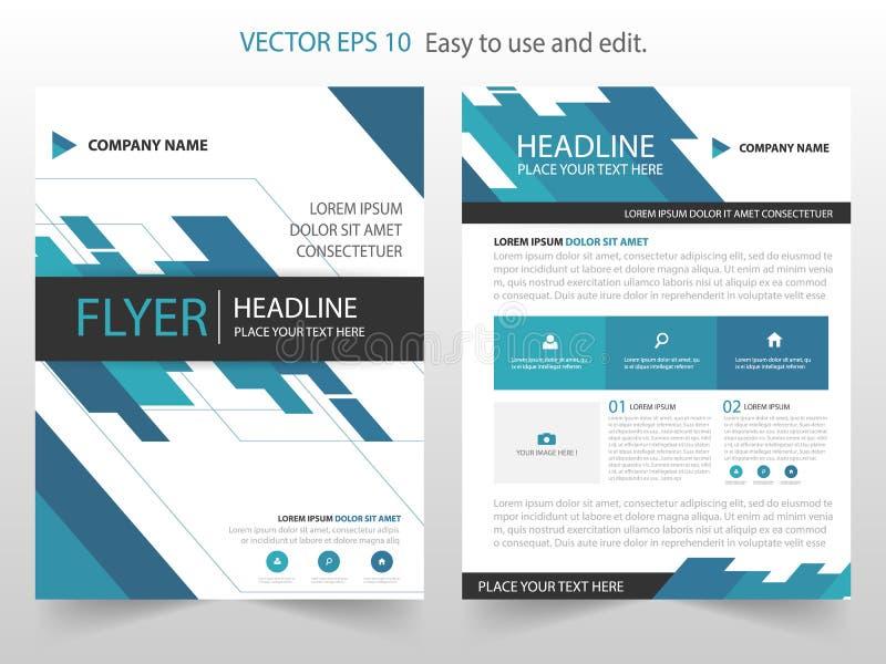 Μπλε αφηρημένο γεωμετρικό διάνυσμα προτύπων σχεδίου φυλλάδιων ετήσια εκθέσεων Infographic αφίσα περιοδικών επιχειρησιακών ιπτάμεν ελεύθερη απεικόνιση δικαιώματος