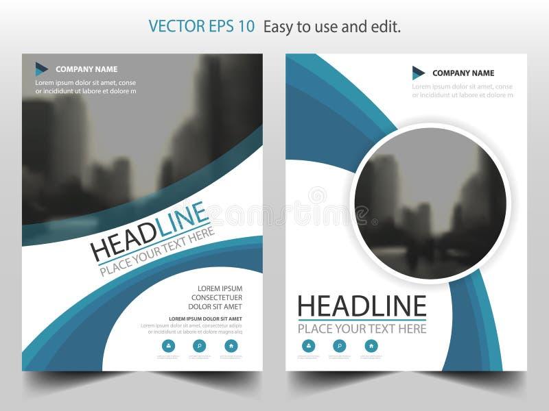 Μπλε αφηρημένο διάνυσμα προτύπων σχεδίου φυλλάδιων ετήσια εκθέσεων κύκλων Infographic αφίσα περιοδικών επιχειρησιακών ιπτάμενων α ελεύθερη απεικόνιση δικαιώματος