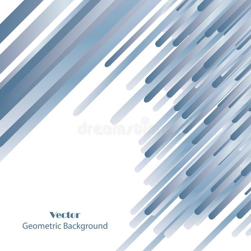 Μπλε αφηρημένο διανυσματικό υπόβαθρο γραμμών απεικόνιση αποθεμάτων