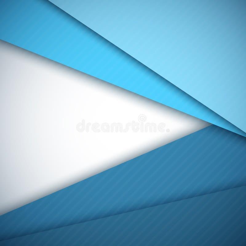 Μπλε αφηρημένο διανυσματικό υπόβαθρο στρωμάτων εγγράφου διανυσματική απεικόνιση