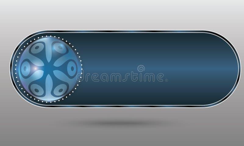 Μπλε αφηρημένο κουμπί απεικόνιση αποθεμάτων