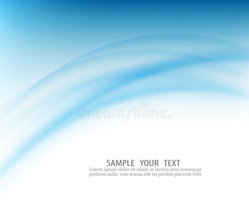 Μπλε αφηρημένο υπόβαθρο καμπυλών ελεύθερη απεικόνιση δικαιώματος
