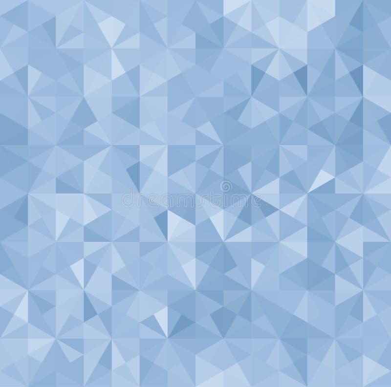 Μπλε αφηρημένο υπόβαθρο τριγώνων ελεύθερη απεικόνιση δικαιώματος