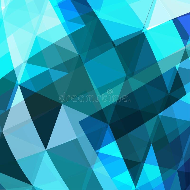 Μπλε αφηρημένο υπόβαθρο τριγώνων απεικόνιση αποθεμάτων