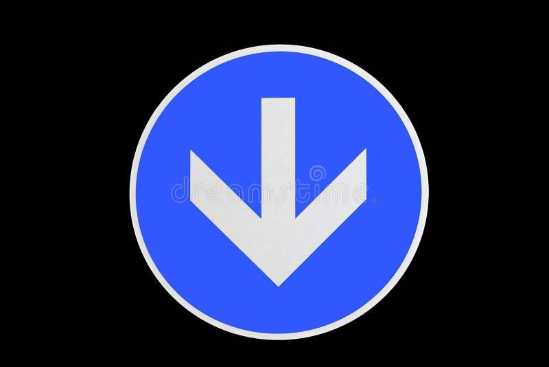 Μπλε βέλος κατεύθυνσης στοκ εικόνα