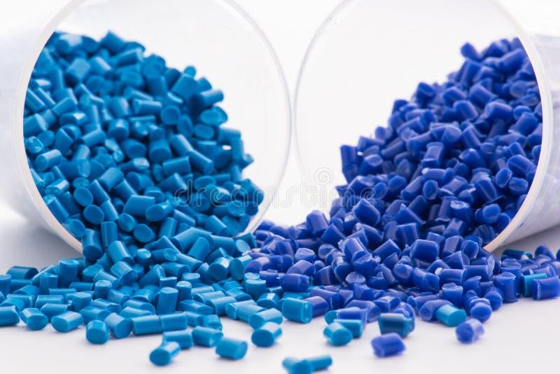 2 μπλε βαμμένες πολυμερείς ρητίνες στοκ φωτογραφίες