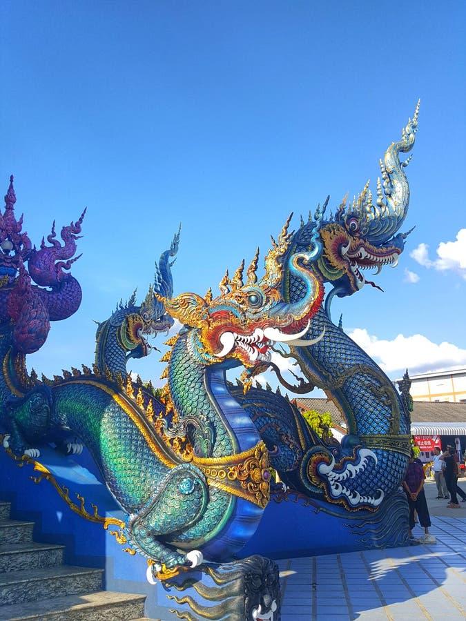 Μπλε βασιλιάς Nagas στοκ φωτογραφία