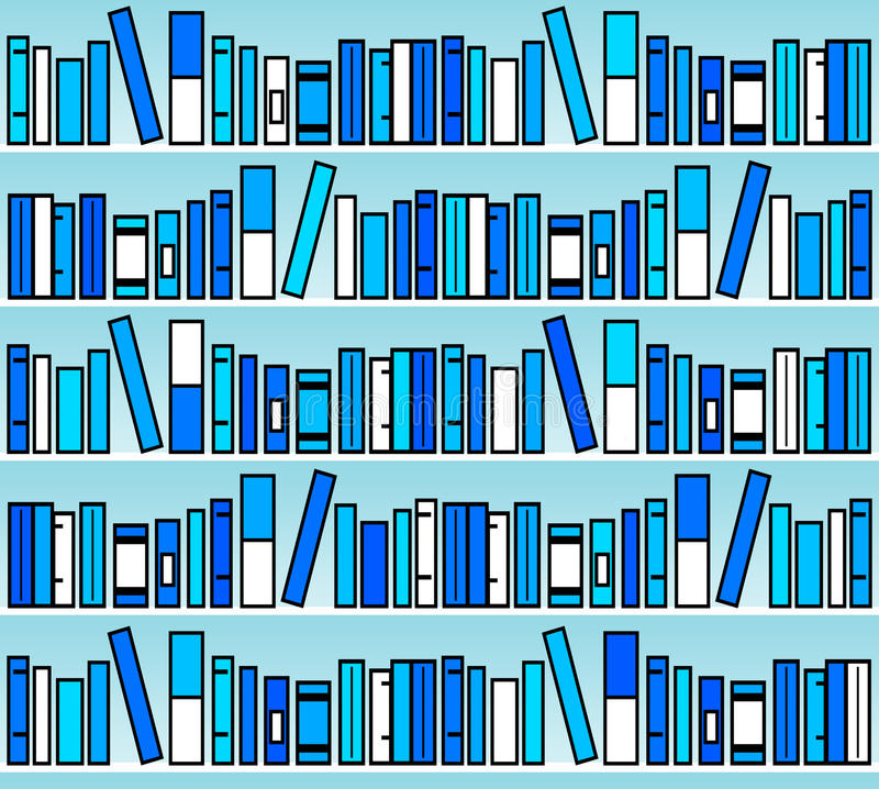 μπλε βιβλία απεικόνιση αποθεμάτων