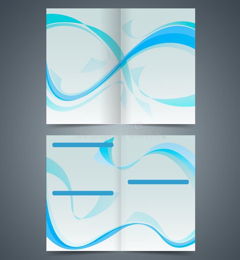 Μπλε βιβλιάριο, σχέδιο προτύπων με τα κύματα απεικόνιση αποθεμάτων