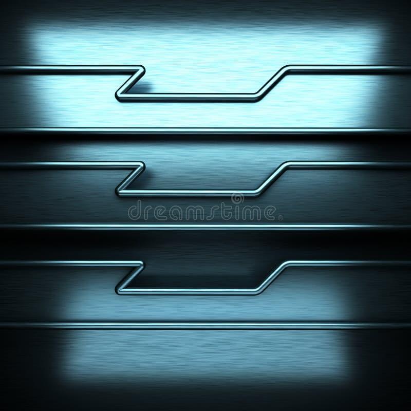 Μπλε βουρτσισμένο υπόβαθρο μετάλλων στοκ εικόνα με δικαίωμα ελεύθερης χρήσης