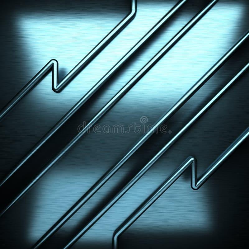 Μπλε βουρτσισμένο υπόβαθρο μετάλλων στοκ εικόνα
