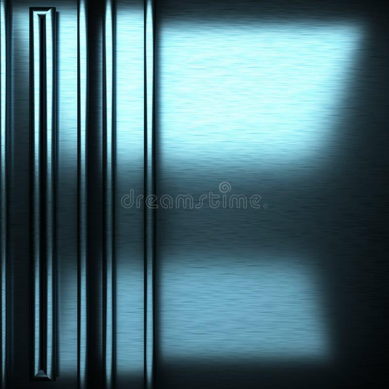 Μπλε βουρτσισμένο υπόβαθρο μετάλλων στοκ φωτογραφίες με δικαίωμα ελεύθερης χρήσης