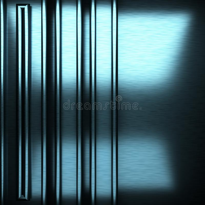 Μπλε βουρτσισμένο υπόβαθρο μετάλλων στοκ εικόνες