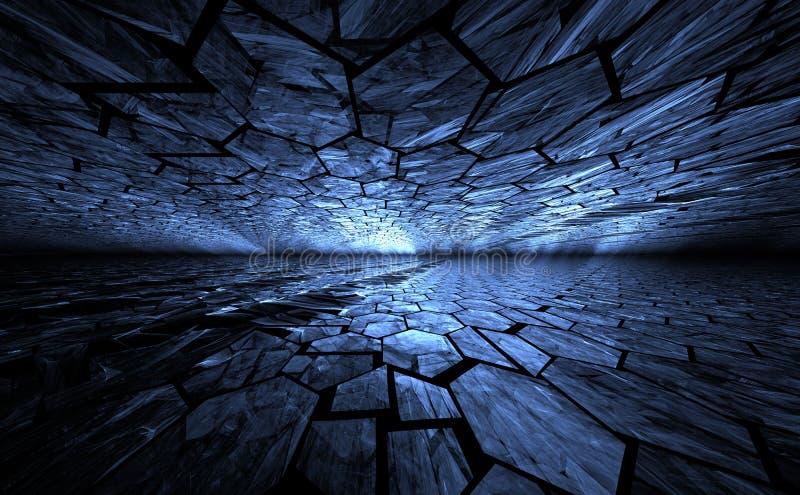 Μπλε γεωμετρικό αφηρημένο υπόβαθρο grunge απεικόνιση αποθεμάτων