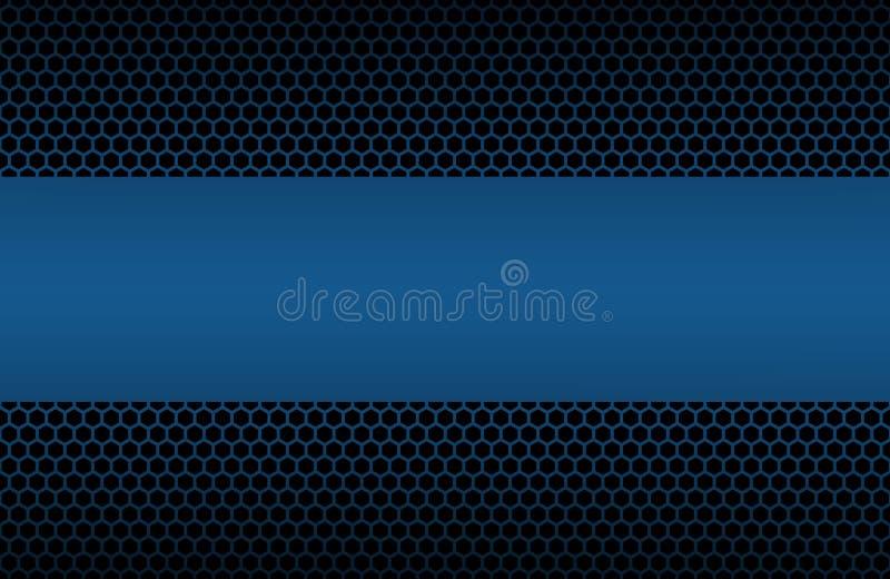 Μπλε γεωμετρικό υπόβαθρο πολυγώνων με τη θέση για το κείμενό σας απεικόνιση αποθεμάτων