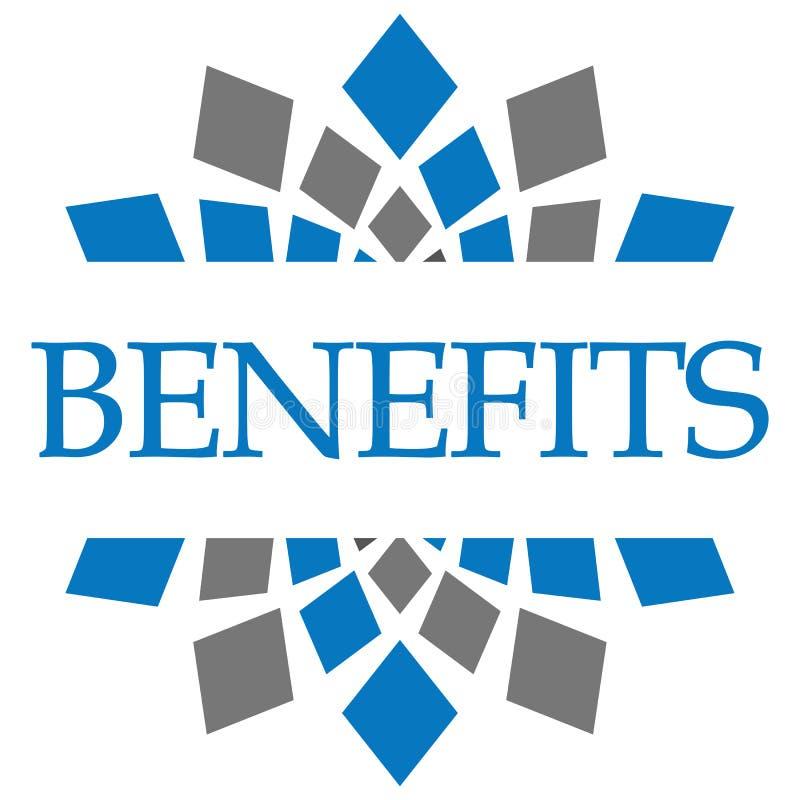 Μπλε γκρίζα εγκύκλιος οφελών ελεύθερη απεικόνιση δικαιώματος