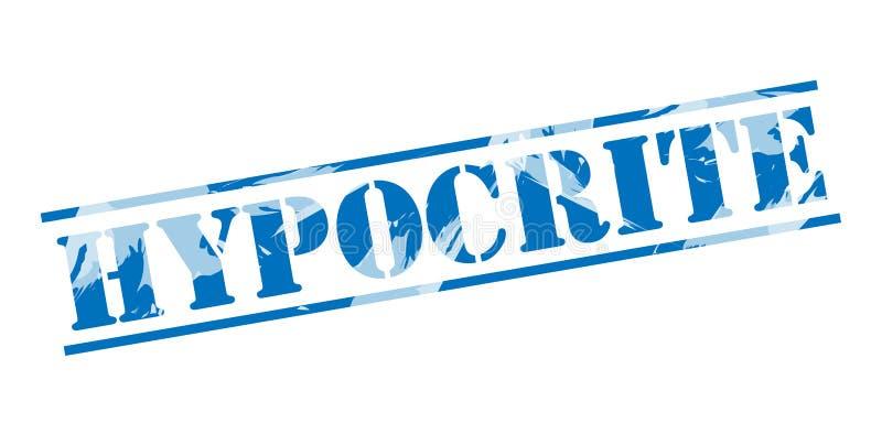 Μπλε γραμματόσημο υποκριτών ελεύθερη απεικόνιση δικαιώματος