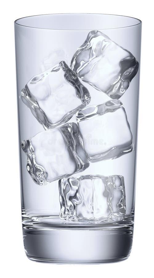 Μπλε γυαλί με τον πάγο ελεύθερη απεικόνιση δικαιώματος