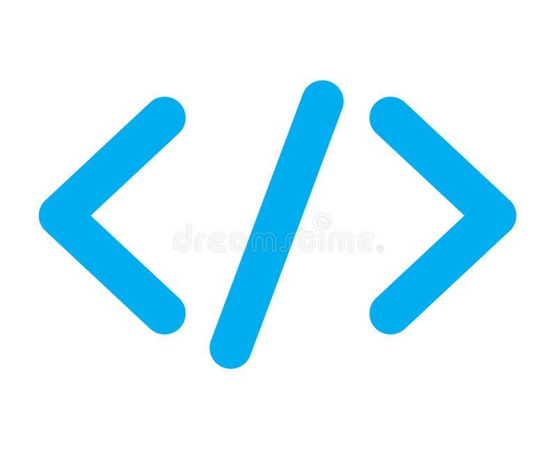 Μπλε εικονίδιο κώδικα ελεύθερη απεικόνιση δικαιώματος