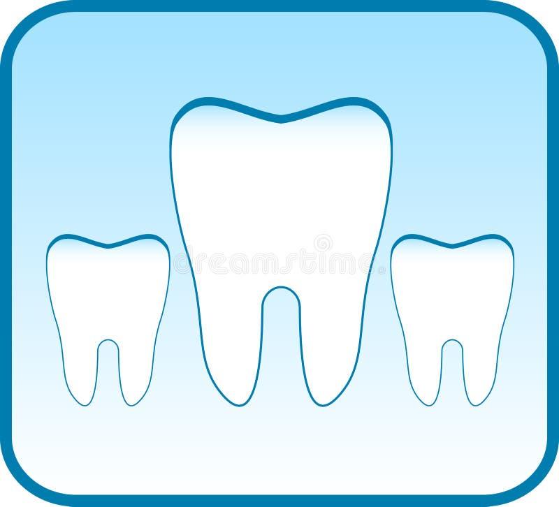 Μπλε εικονίδιο με το καθορισμένο δόντι απεικόνιση αποθεμάτων