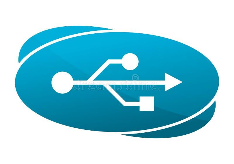 Μπλε εικονίδιο USB ελεύθερη απεικόνιση δικαιώματος