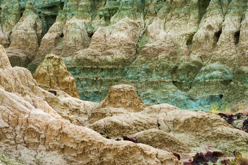 Μπλε λεκάνη στα απολιθωμένα κρεβάτια ημέρας του John στοκ εικόνες με δικαίωμα ελεύθερης χρήσης