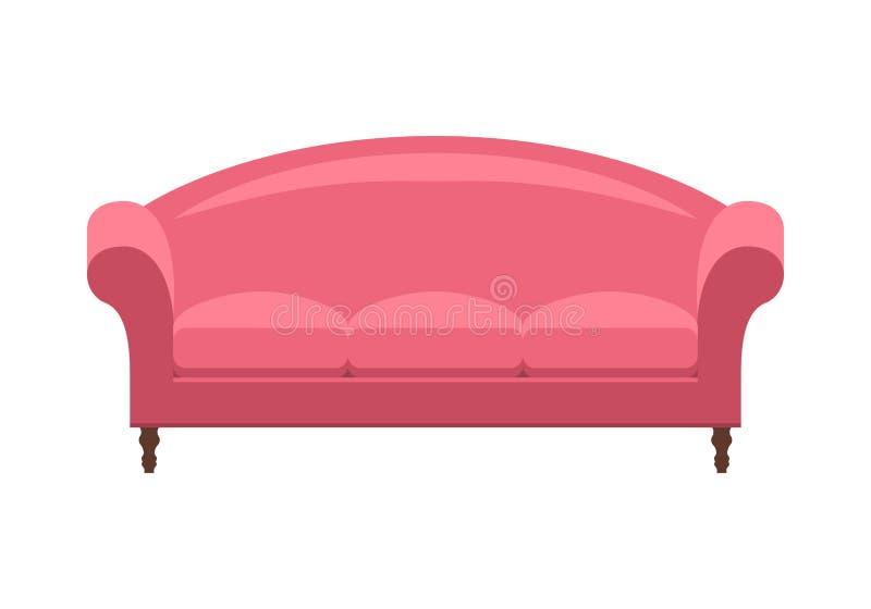 Μπλε εκλεκτής ποιότητας καναπές παλαιός καναπές διανυσματική απεικόνιση