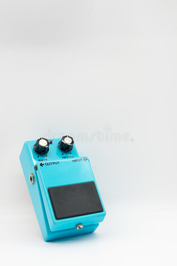 Μπλε εκλεκτής ποιότητας πεντάλι κιθάρων στοκ εικόνα με δικαίωμα ελεύθερης χρήσης