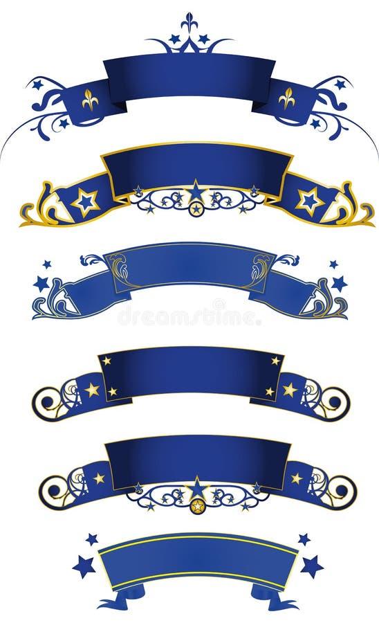 μπλε εμβλημάτων στοκ εικόνα με δικαίωμα ελεύθερης χρήσης