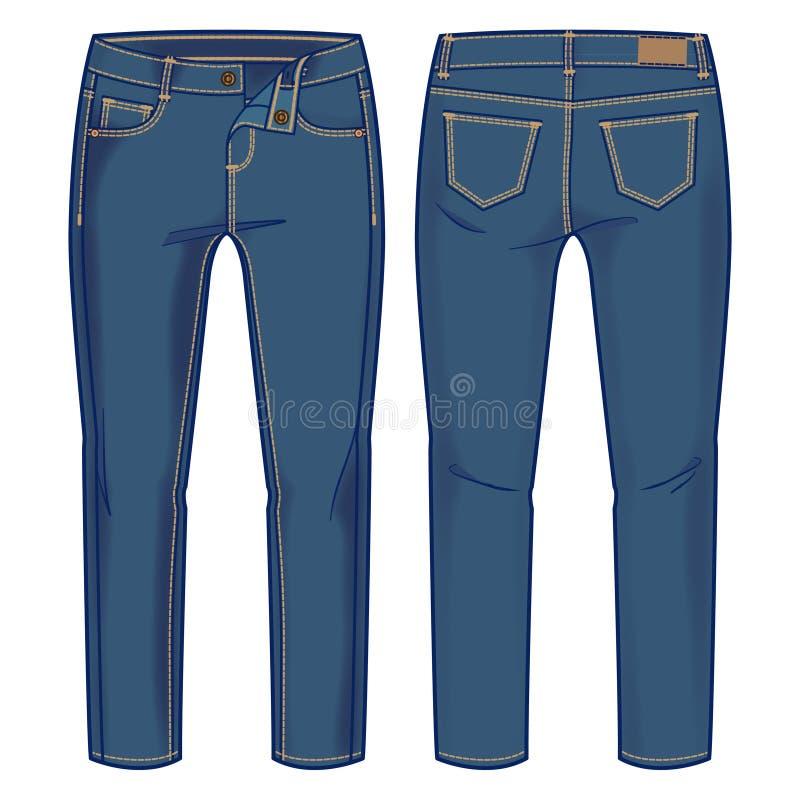 μπλε εσώρουχα τζιν διανυσματική απεικόνιση