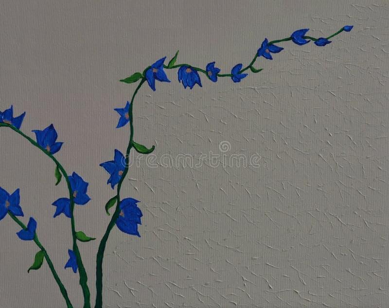 Μπλε ζωγραφική ορχιδεών στοκ φωτογραφία με δικαίωμα ελεύθερης χρήσης