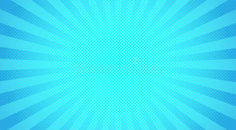 Μπλε ημίτονο υπόβαθρο ηλιαχτίδων επίσης corel σύρετε το διάνυσμα απεικόνισης απεικόνιση αποθεμάτων