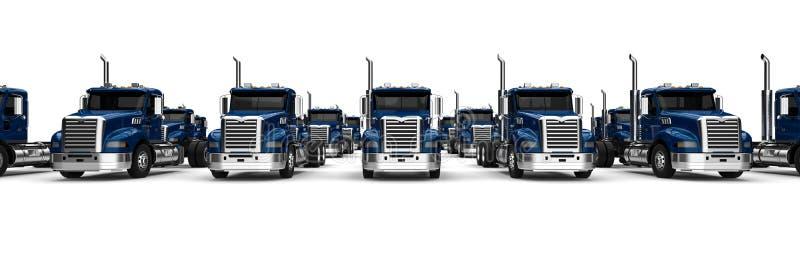 Μπλε ημι στόλος φορτηγών ελεύθερη απεικόνιση δικαιώματος