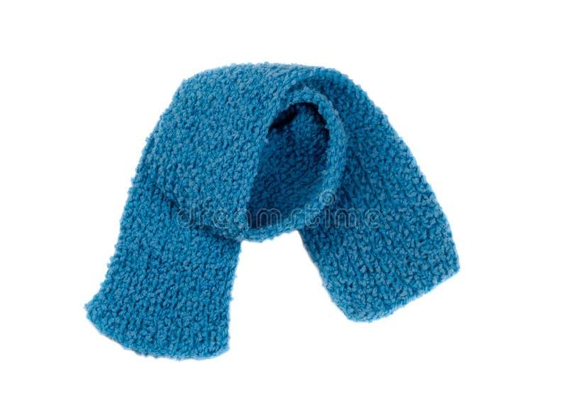 Μπλε θερμό πλεκτό μαντίλι στοκ φωτογραφίες με δικαίωμα ελεύθερης χρήσης