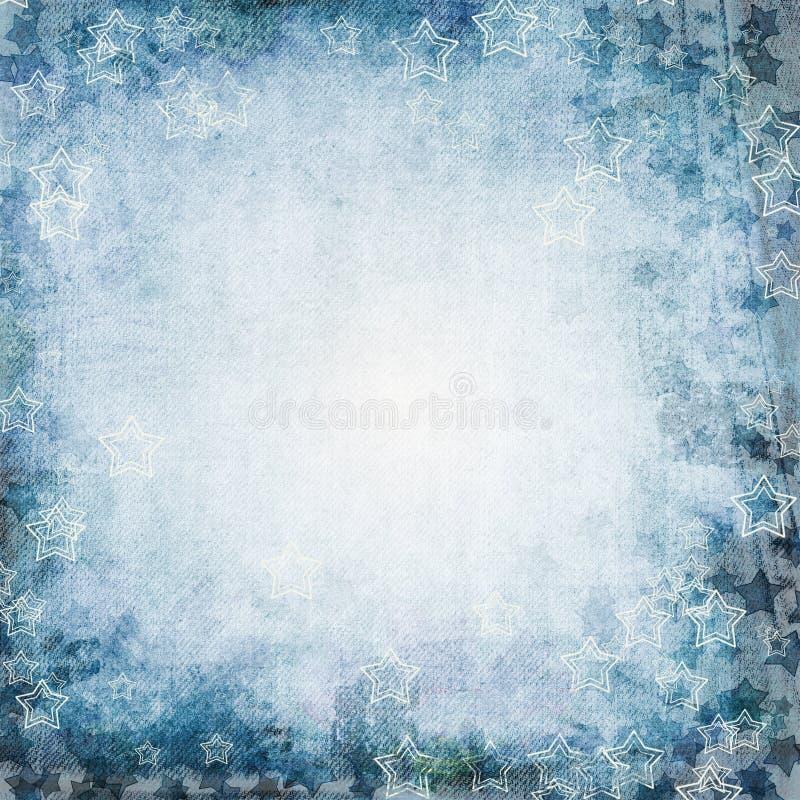 μπλε διάνυσμα απεικόνισης grunge ανασκόπησης διανυσματική απεικόνιση